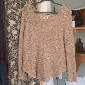 Free people sweater with lace back